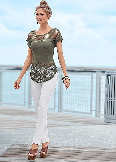 %PC% Short sleeve sweater, skinny jeans from VENUS