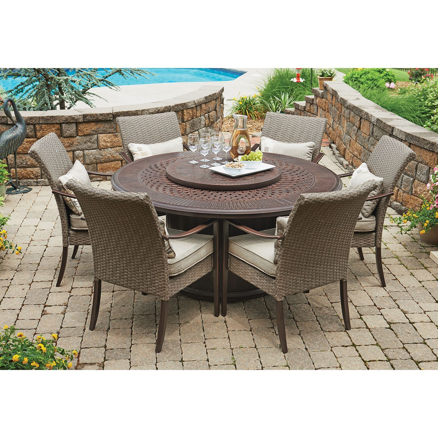 Member s Mark Fairbanks 8 Piece Fire Pit Dining Set Sam s Club