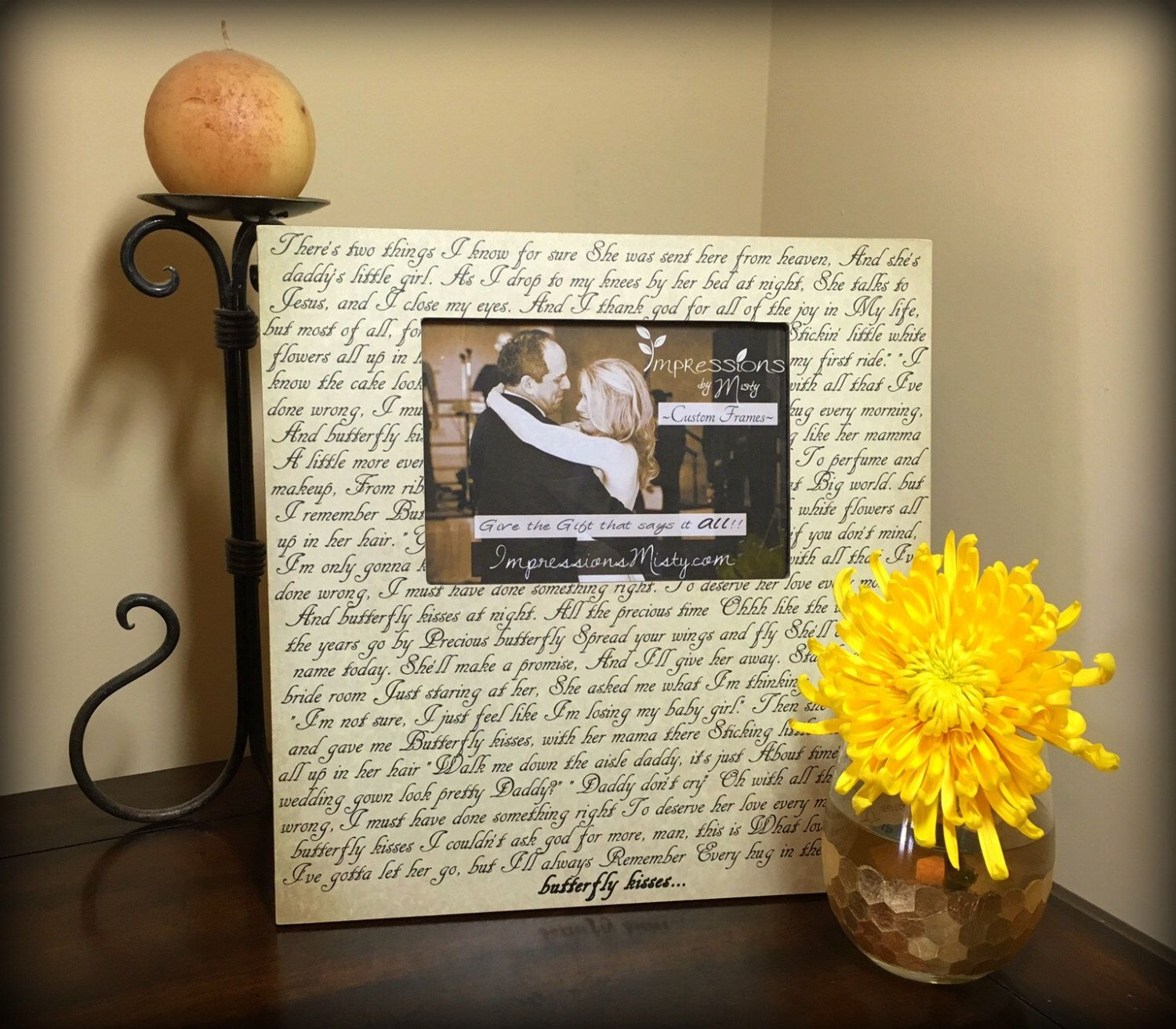 first wedding anniversary gift ideas for husband pinterest%0A Wedding song lyrics gift Anniversary gift for husband First dance with  photo Father u    s day gift Mother u    s day present Personalized gift