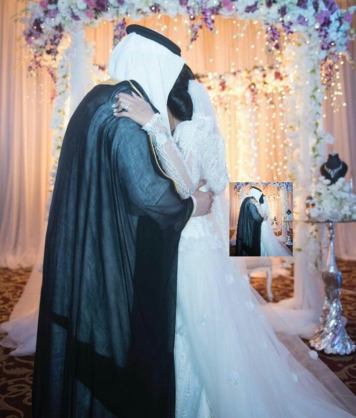 Pin By Mnola Ahmed On Arab Couples 2 Arab Wedding Hijab Wedding Dresses Bride