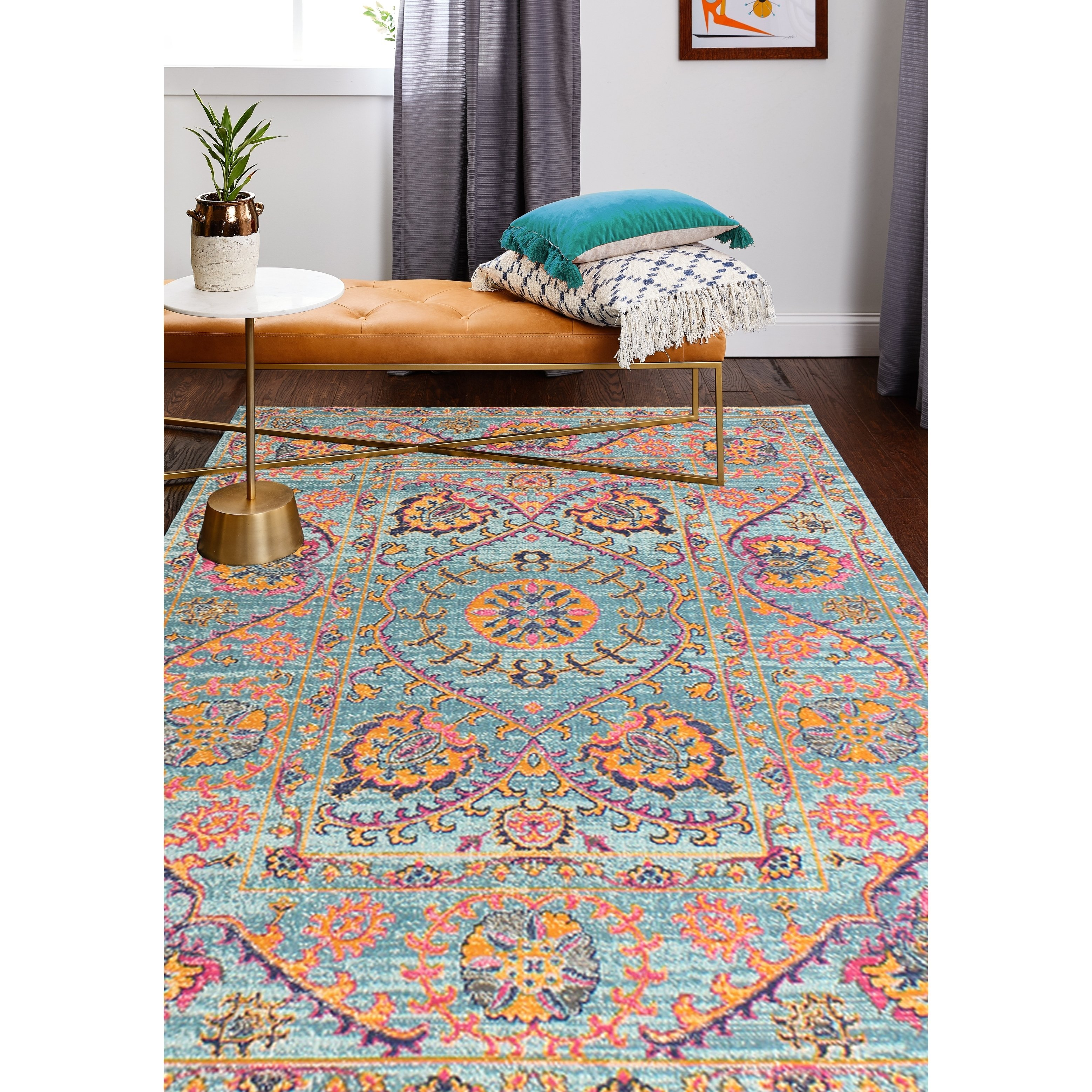 Brewster Teal Transitional Area Rug 8 7 X 11 6 8 7 X 11 6 Teal Blue Transitional Area Rugs Area Rugs Rugs