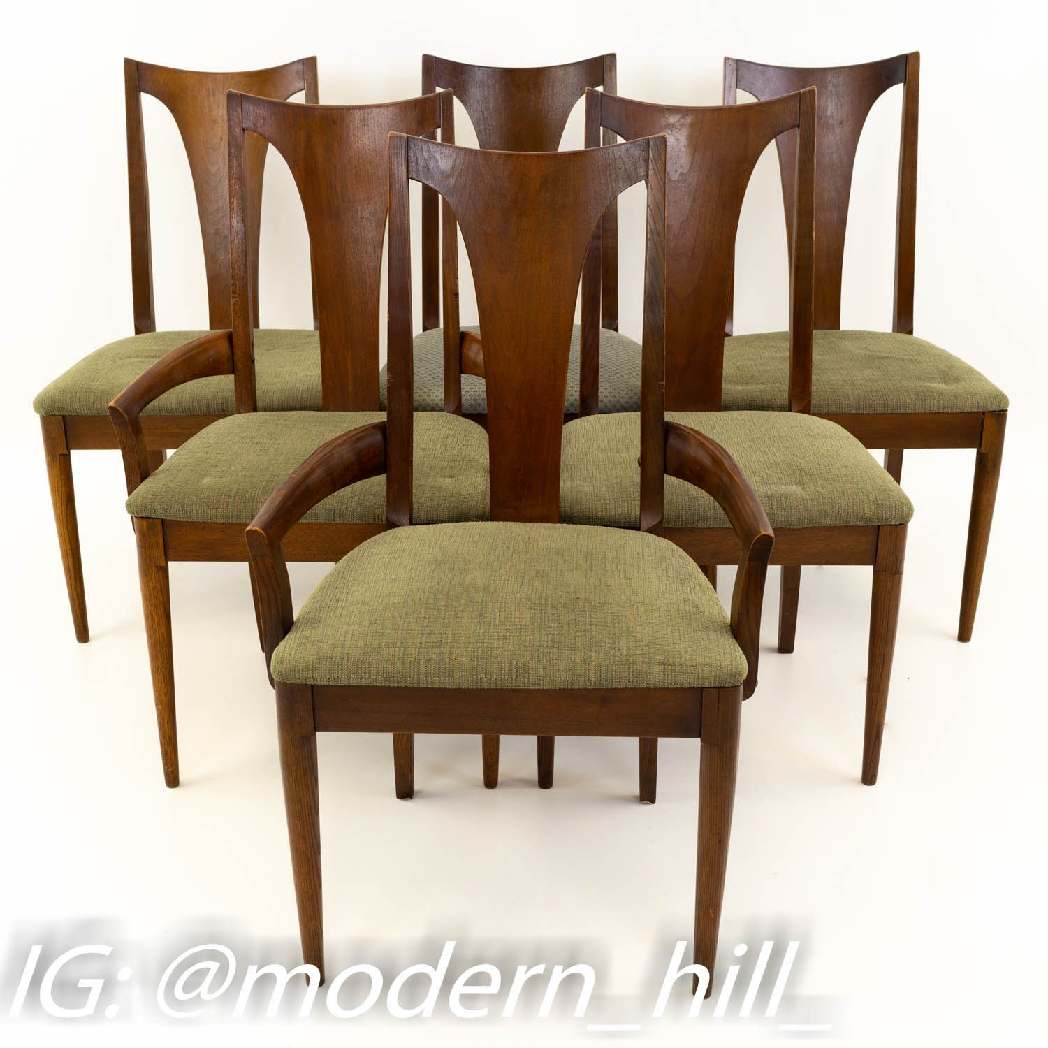 Broyhill Brasilia Mid Century Dining Chairs Set Of 6 Dining