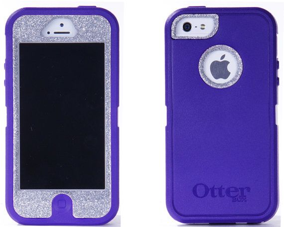 size 40 16fa5 90b75 SALE OTTERBOX iPhone 5 Case Custom Glitter Purple/Silver Sparkly ...