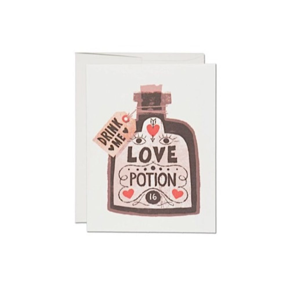 Red Cap Cards Love Potion Card