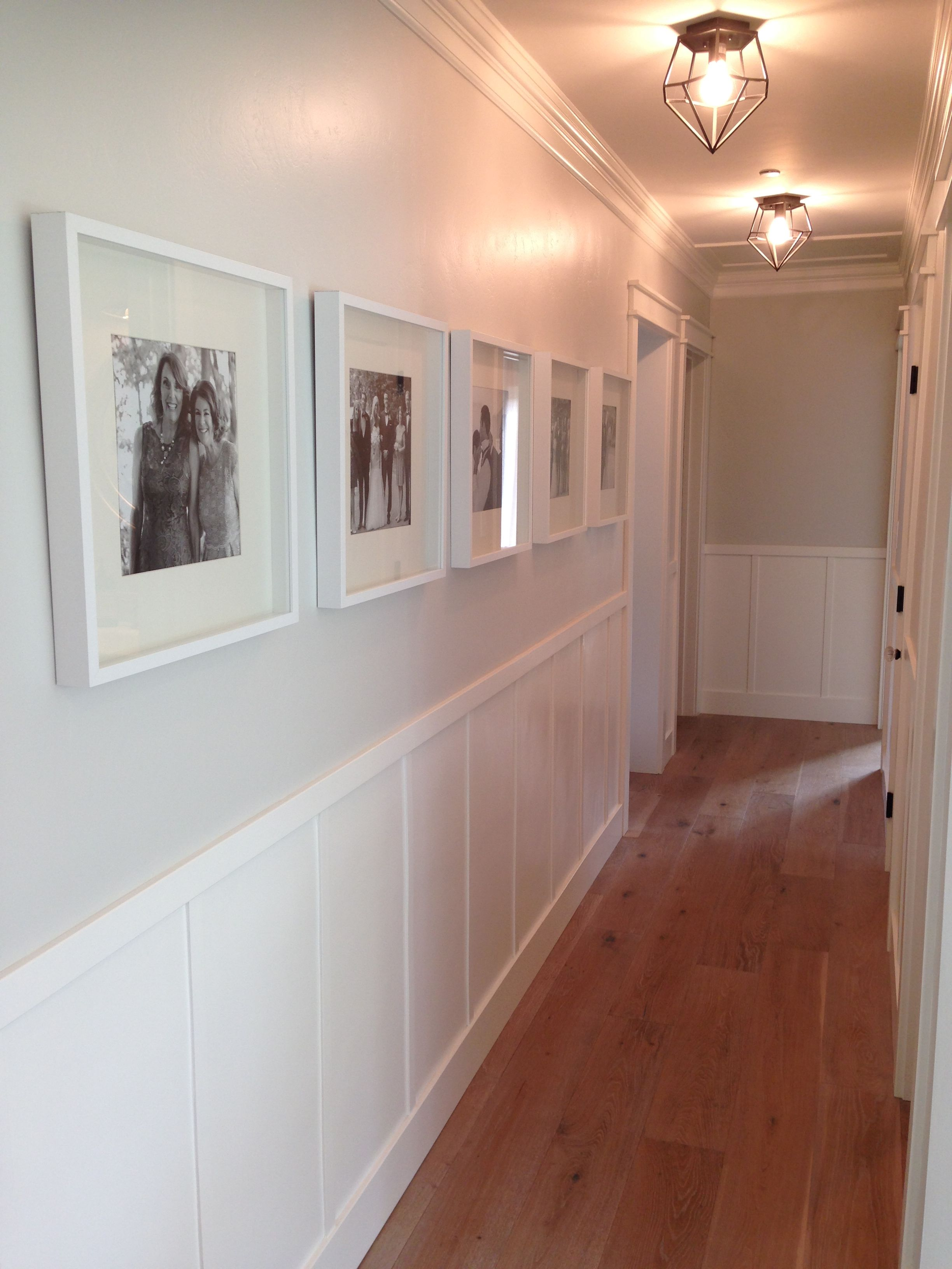 Ikea White Ribba Frames In Hallway Gallery Wall With Board