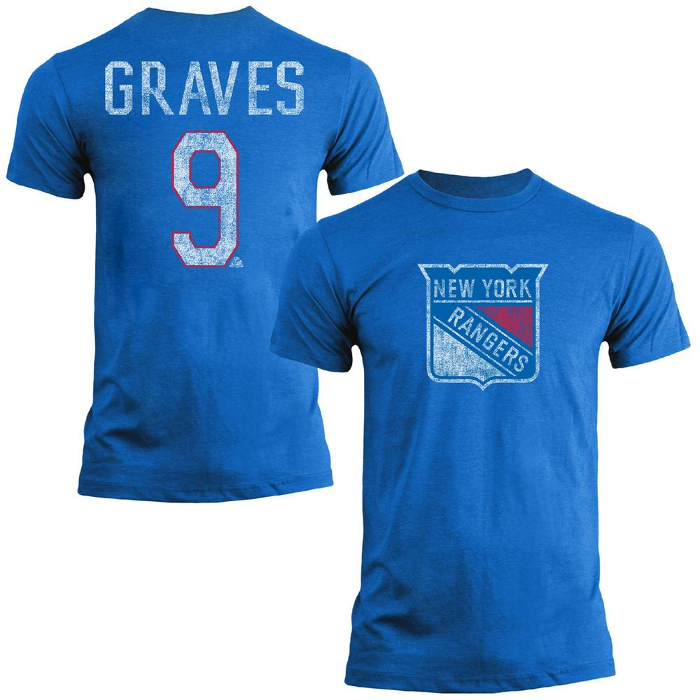 sports shoes 2c50e 1772f Adam Graves New York Rangers Old Time Hockey Name & Number T ...