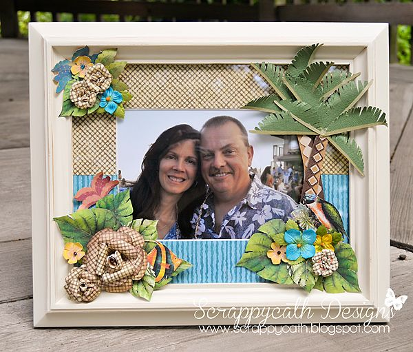 Tropical Picture Frame with Graphic 45 by ScrappyCath Designs ...