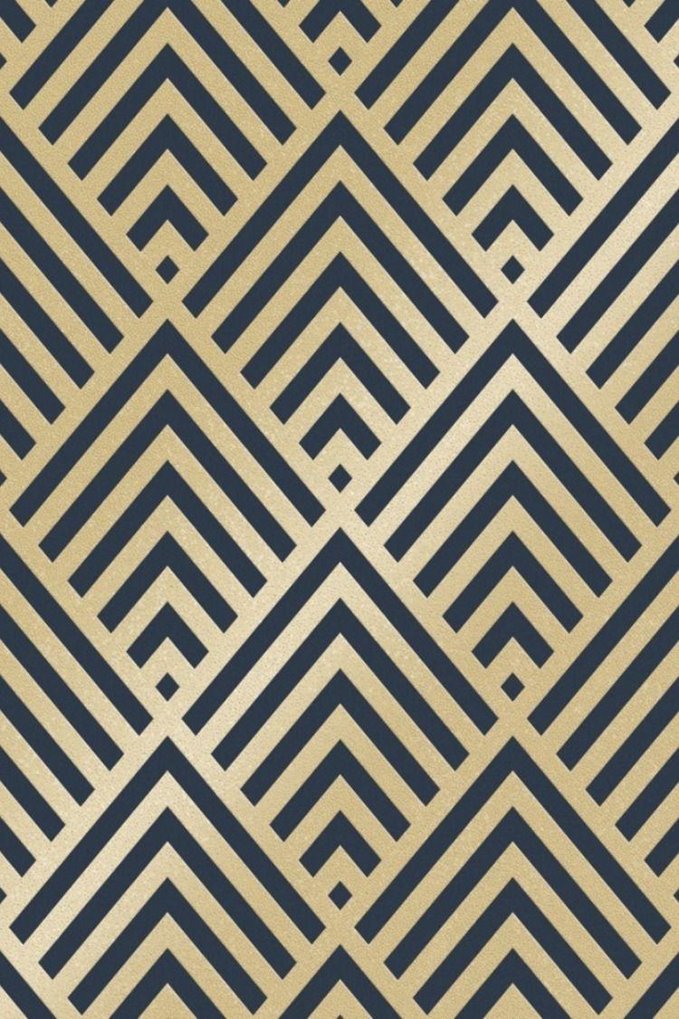 Shard Glitter Geometric Wallpaper Navy Gold Geometric Wallpaper