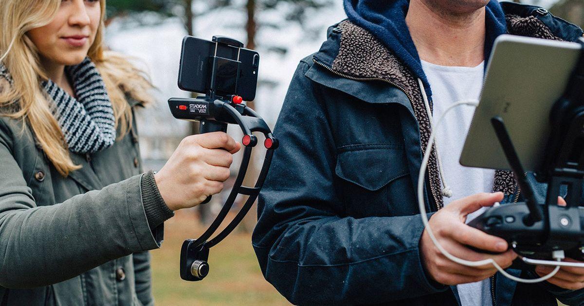 http://soundlazer.com Steadicam comes to smartphones with the gyro-stabilized Volt
