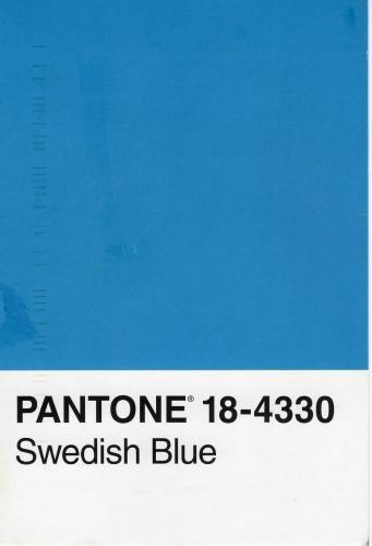 Pantone 18 4330 Swedish Blue Postcard