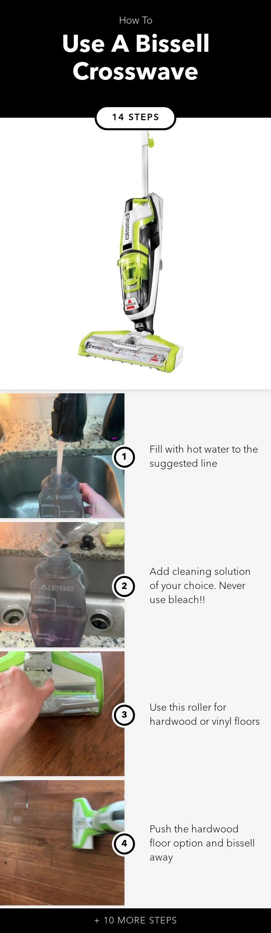 Video Instructions For Using The Bissell Crosswave And Cleaning After Use You Can Find A Link For Thi Best Cleaning Products Vinyl Flooring Cleaning Solutions