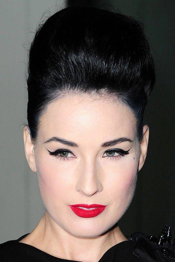 Celebrity Hair Celebrity Hairstyles 2010 Dita Von Teese Hair Hair