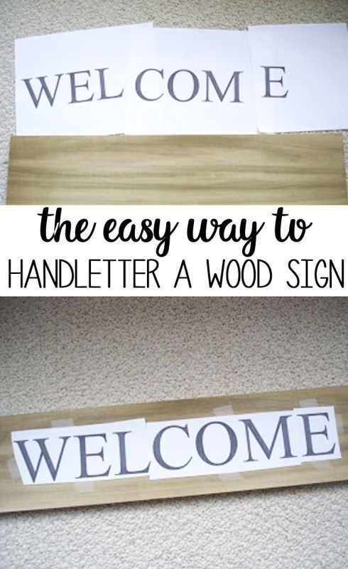 How To Hand Letter A Wooden Sign How To Make A Wooden Sign With A Sharpie Barn Wood Signs Wooden Welcome Signs Wooden Signs