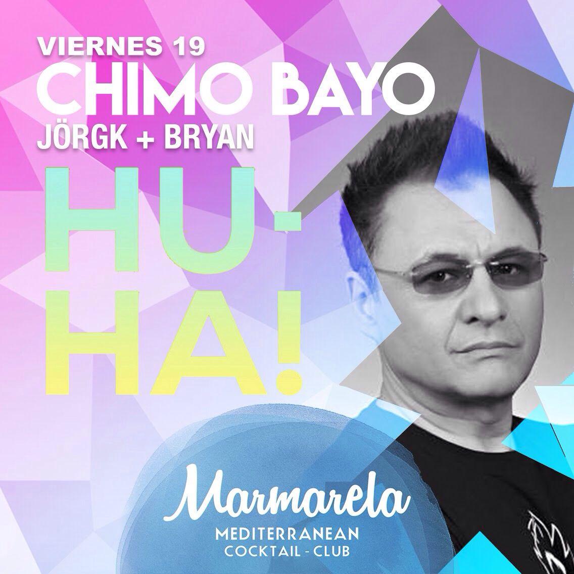El primer día de las #Hogueras2K15Marmarela se viene con nosotros todo un mito, el gran CHIMO BAYO