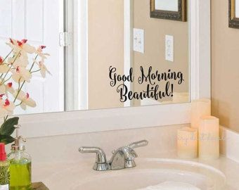 Hello Gorgeous Decal Bathroom Mirror Decoration By Fairydustdecals