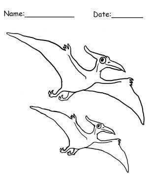 Flying Dinosaur Coloring Sheet Dinosaur Coloring Sheets