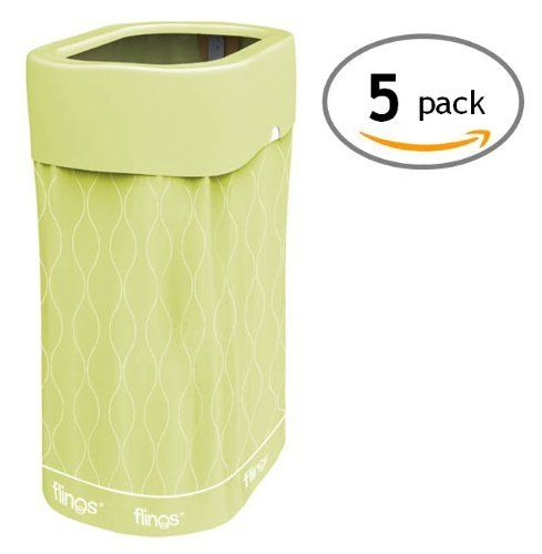 disposable trash cans. Flings Bins POP UP Green Disposable Garbage Cans Trash L
