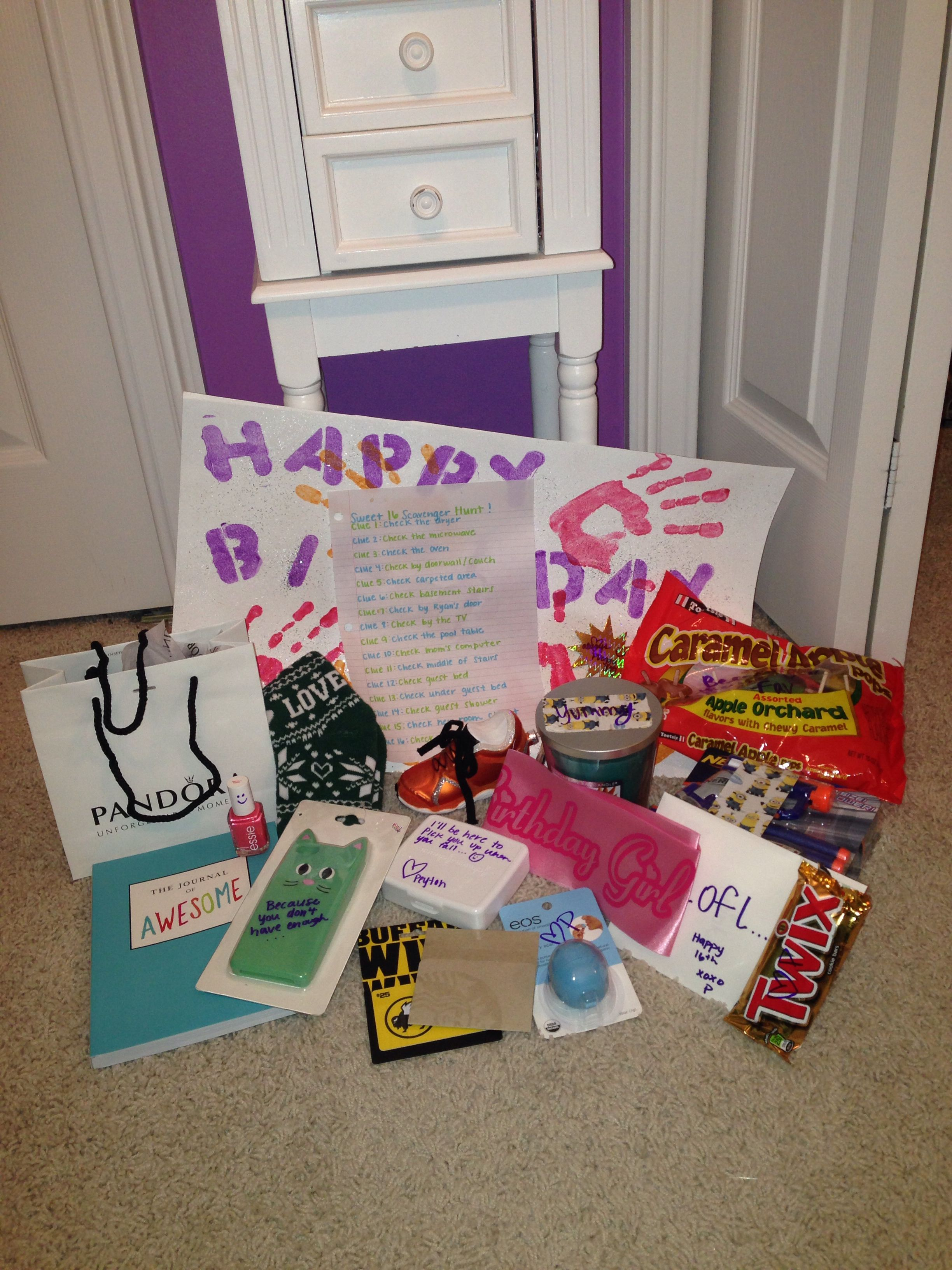 Scavenger Hunt I Did For My Best Friends 16th Birthday 16 Gifts