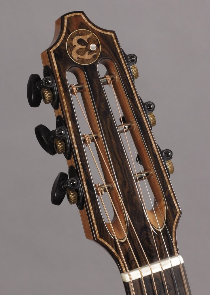 The Back Headstock Plate Is The Same Honduran Rosewood As The Back And Sides The Neck On This Guitar Is America Luthier Guitar Acoustic Guitar Guitar Building
