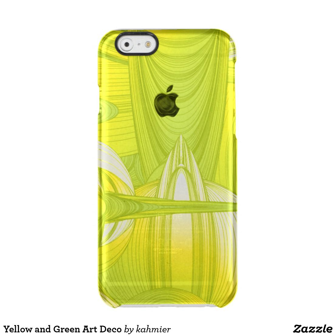 Yellow and Green Art Deco Clear iPhone 6/6S Case