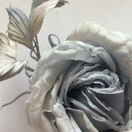 """Броши ручной работы. Ярмарка Мастеров - ручная работа Роза """"Винтаж"""". Handmade."""