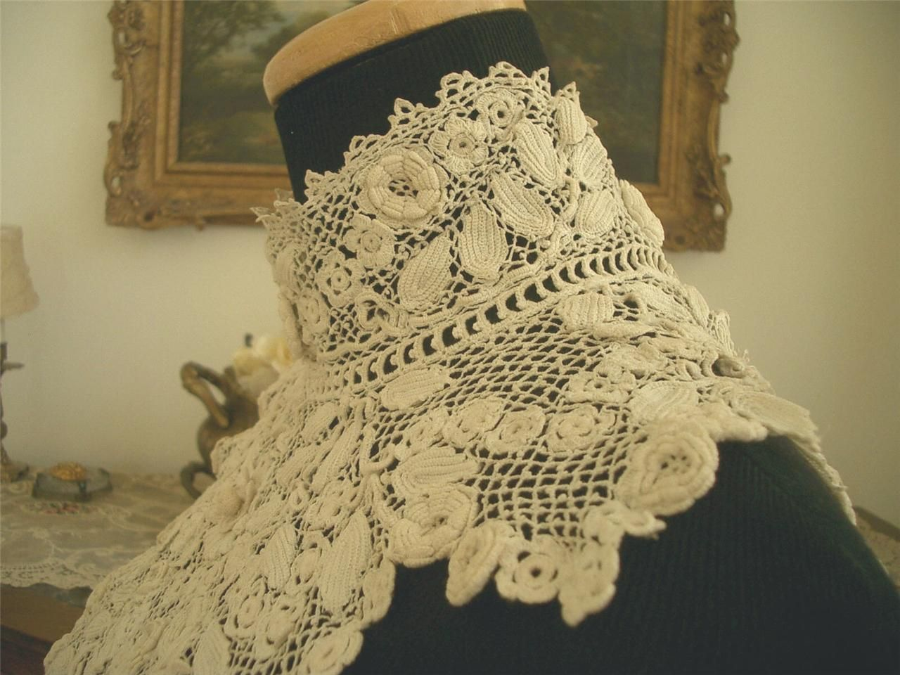 Irish Crochet Together: Antique of the Week--Large Edwardian Collar ...