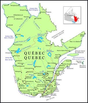 A Map Of Le Québec Itself Found Off Québec Overview And History - Map of quebec