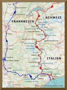 Karte Sudwestschweiz Genfer See Bis Monaco Und Ruckfahrtstrecke Genfer See Route Des Grandes Alpes Schweiz Reise