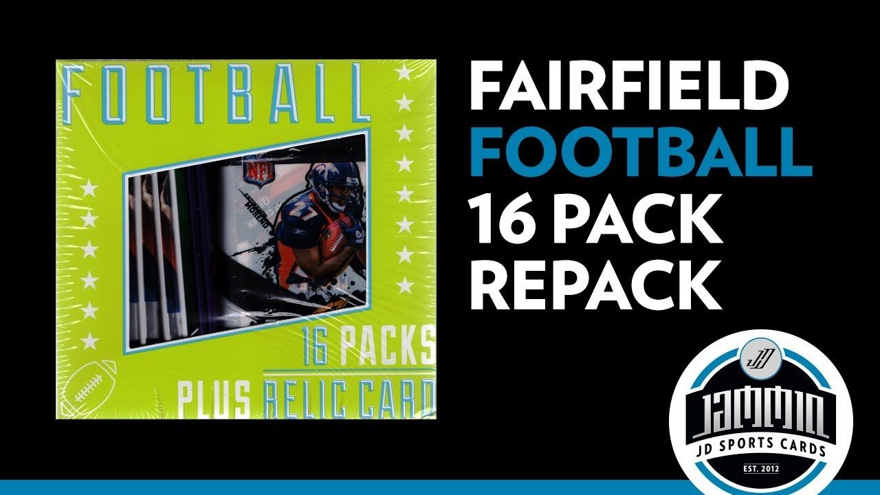 16 pack fairfield football repack 1 guaranteed hit
