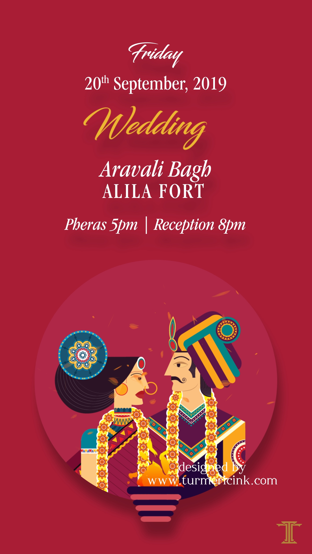 Indian Caricatures inspired Digital Invite I Einvites by