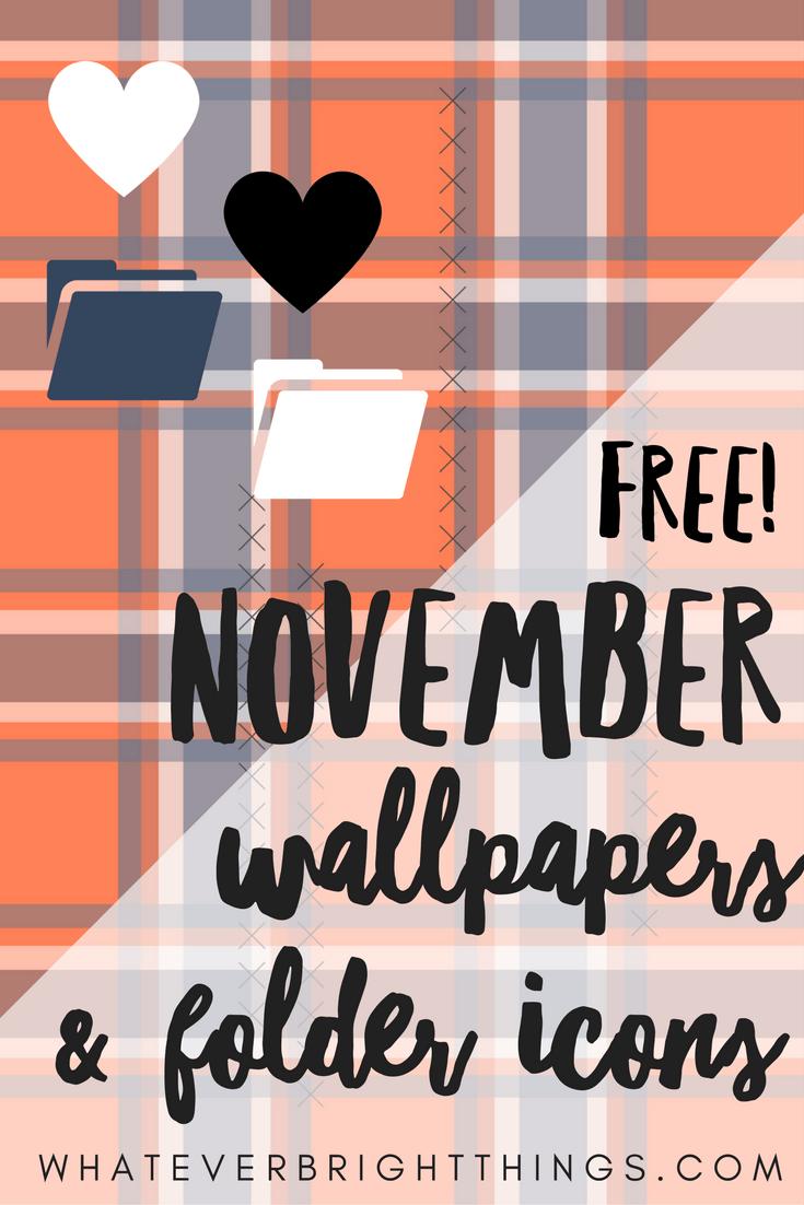 November Wallpapers & Folder Icons Folder icon, November
