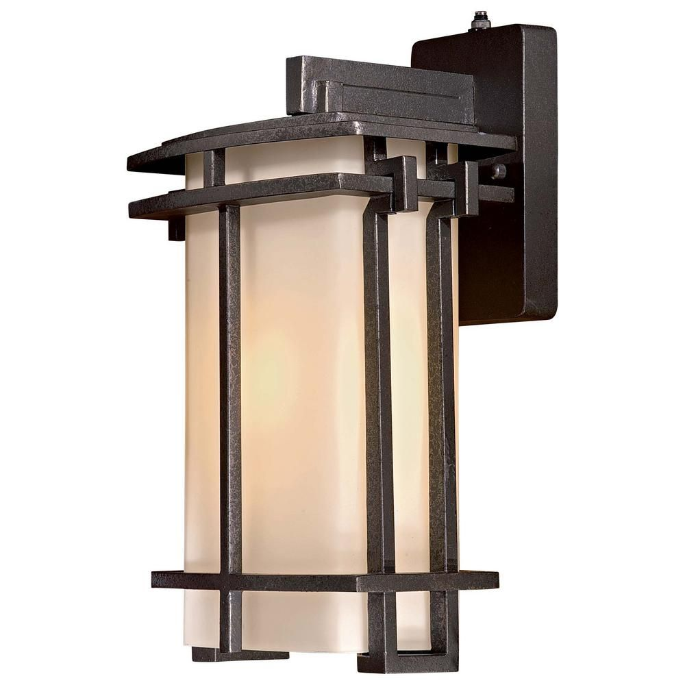 Lugarno square light forged silver outdoor wall mount outdoor