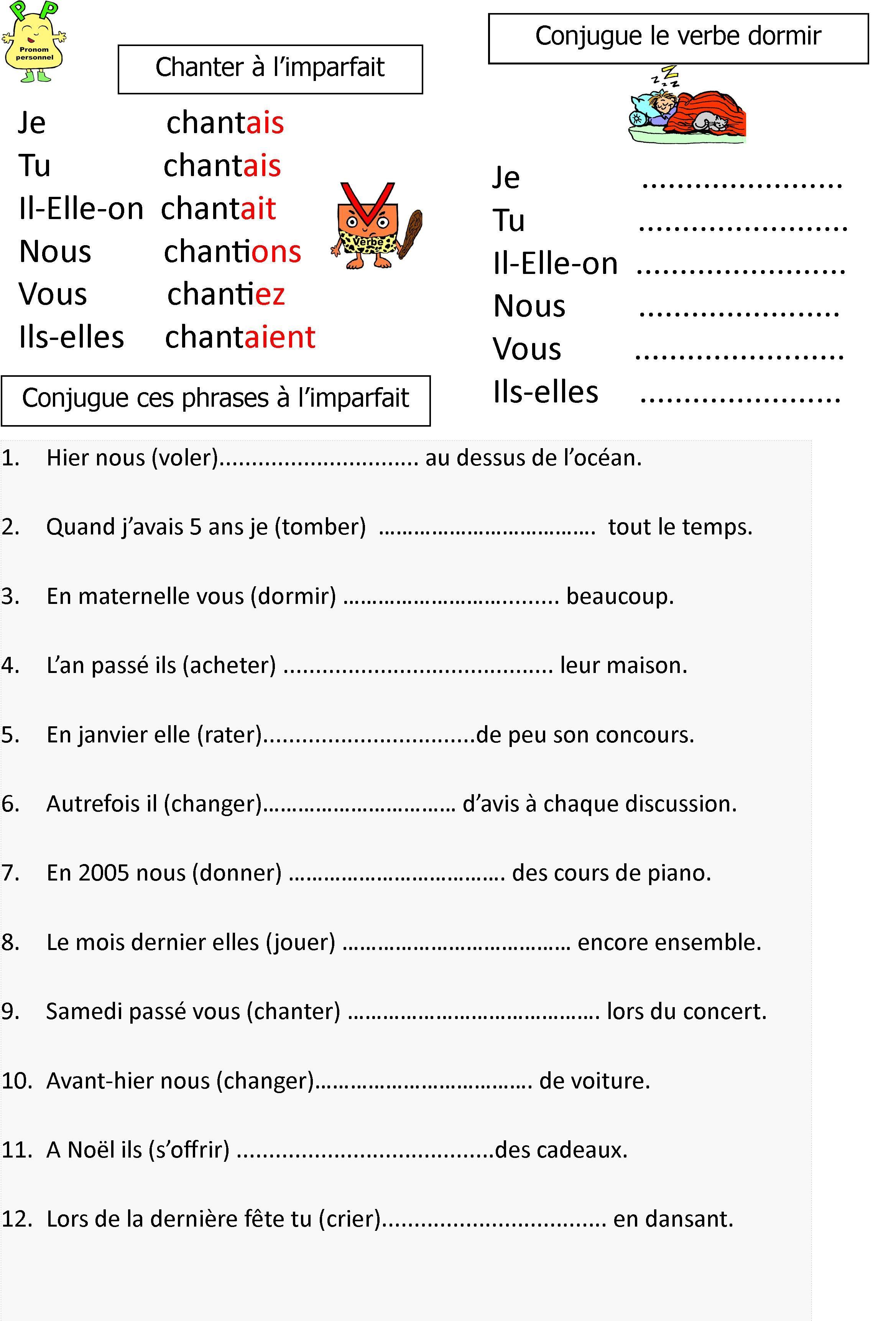 Le Blog De Monsieur Mathieu Des Jeux Et Des Ressources Pour Apprendre En Jouant Exercices Imparfait Exercice Ce2 Exercice Francais Ce1