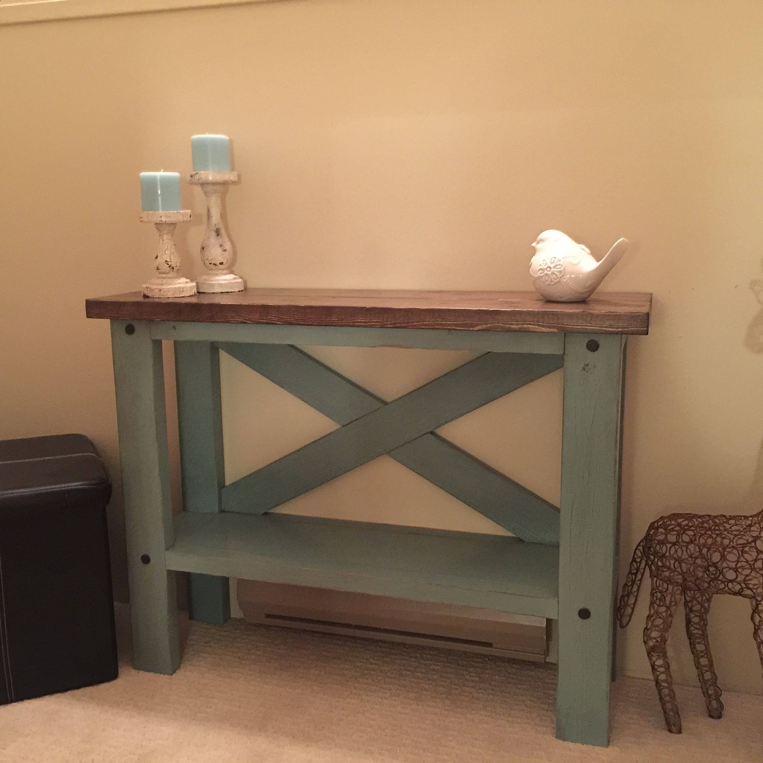 Plans Of Woodworking Diy Projects  Mini Console Table -