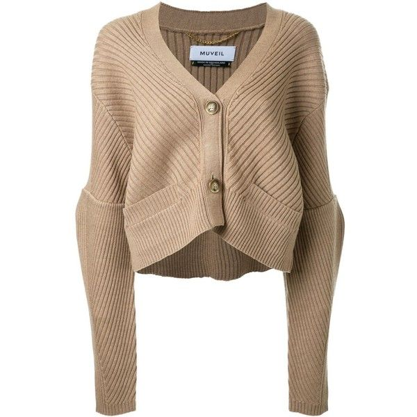 Muveil Cropped Cardigan ($602) ❤ liked on Polyvore featuring tops ...