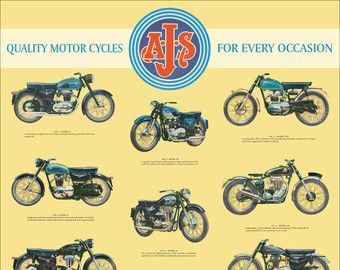 Classic Honda Motorcycle Poster Lightweight By Classicmotorads