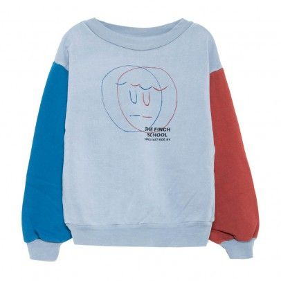 2f055c18f285 3D Face Bear Sweatshirt Grey blue The Animals Observatory ...