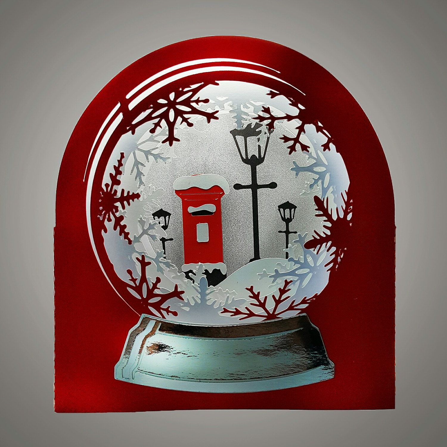 Snow globe card red letter box template letter boxes style box snow globe card red letter box template spiritdancerdesigns Gallery
