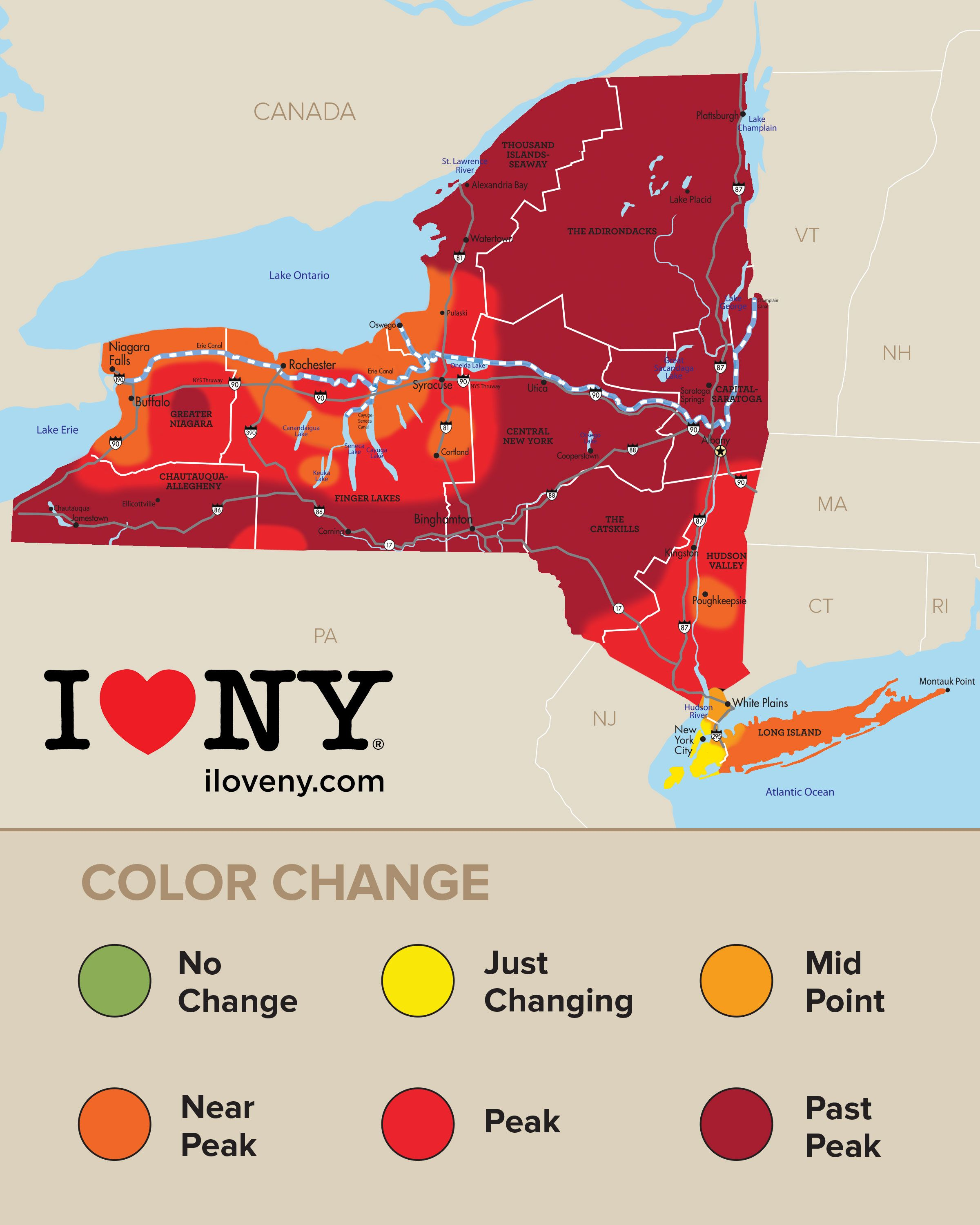 Fall Foliage In New York Autumn Leaves Scenic Drives New England Fall Foliage Map Of New York Fall Foliage Map