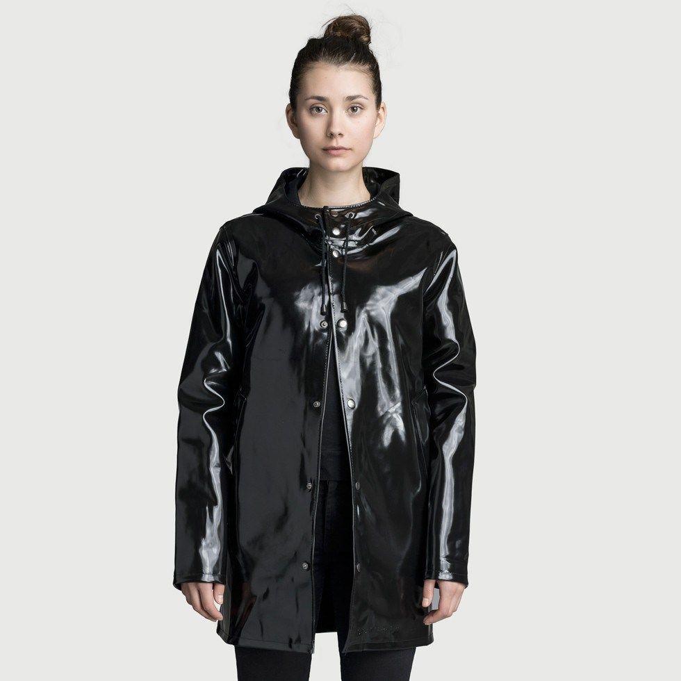 Lady In Black Maxi Waterproof Coat
