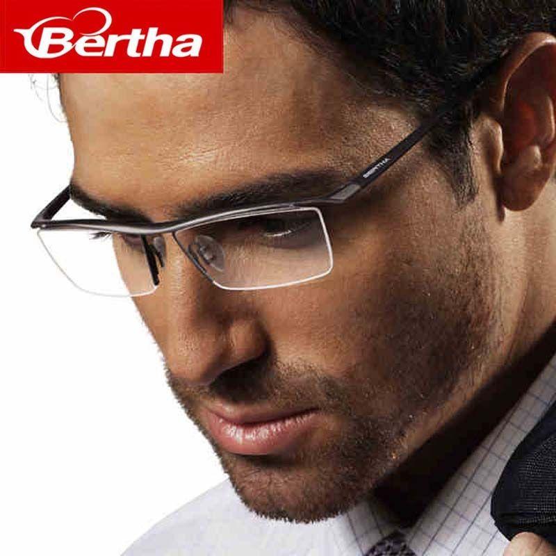 Bertha 2017 Men Z Pure Titanium Semi-rimless Eyewear Business ...