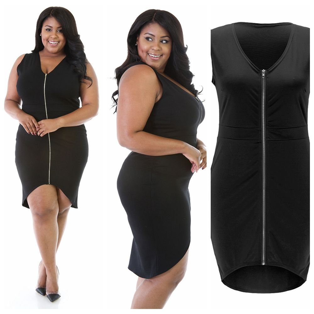Latest Fat Women Dresses, Plus Size Clothing Women Fashion Peplum ...