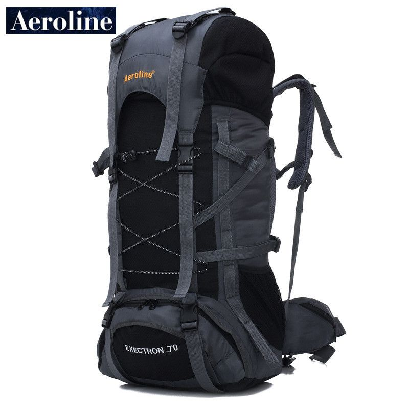 Aeroline Brand Wholesale 70L Men Travel Sport Knapsack Large Capacity Women  Mountaineering Bag Waterproof Backpack Free Shipping 8a5e95177ae2f