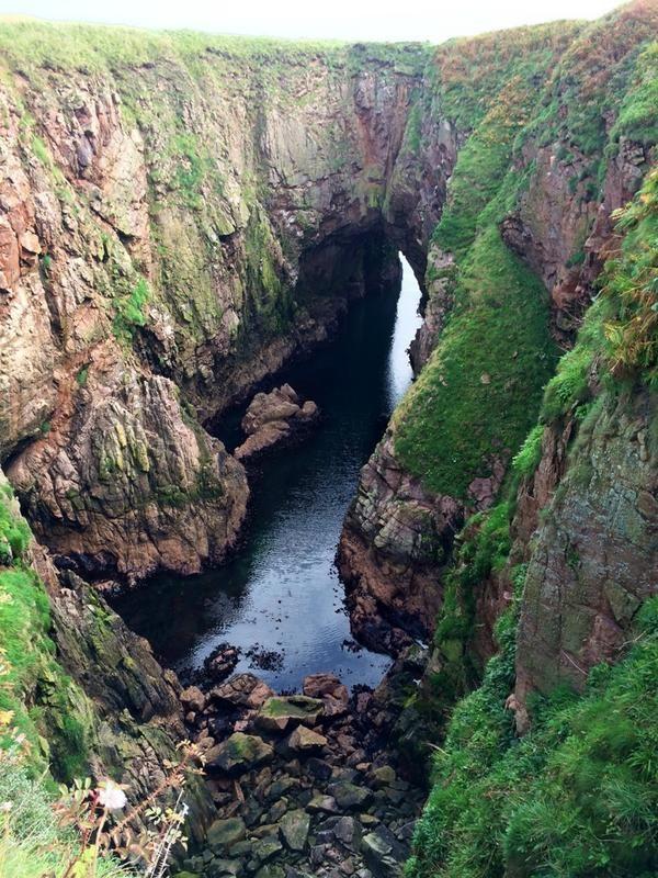 "The Bullers o' Buchan. Aberdeenshire. Scotland. For ""Sophia's Secret"" (formerly Winter Seas) by Susanna Kearsley"