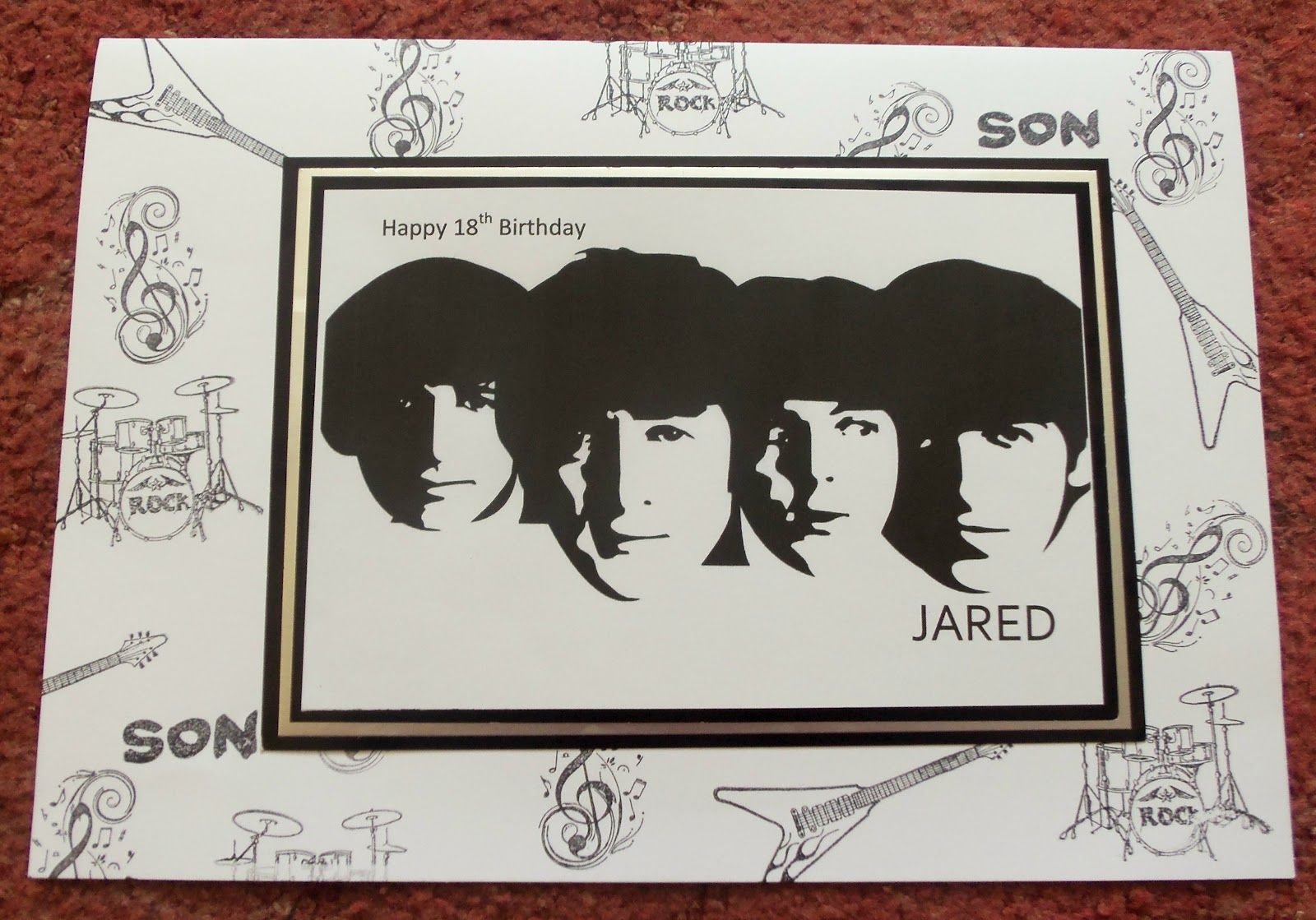 Image result for beatles birthday card homemade greeting cards image result for beatles birthday card homemade m4hsunfo Choice Image