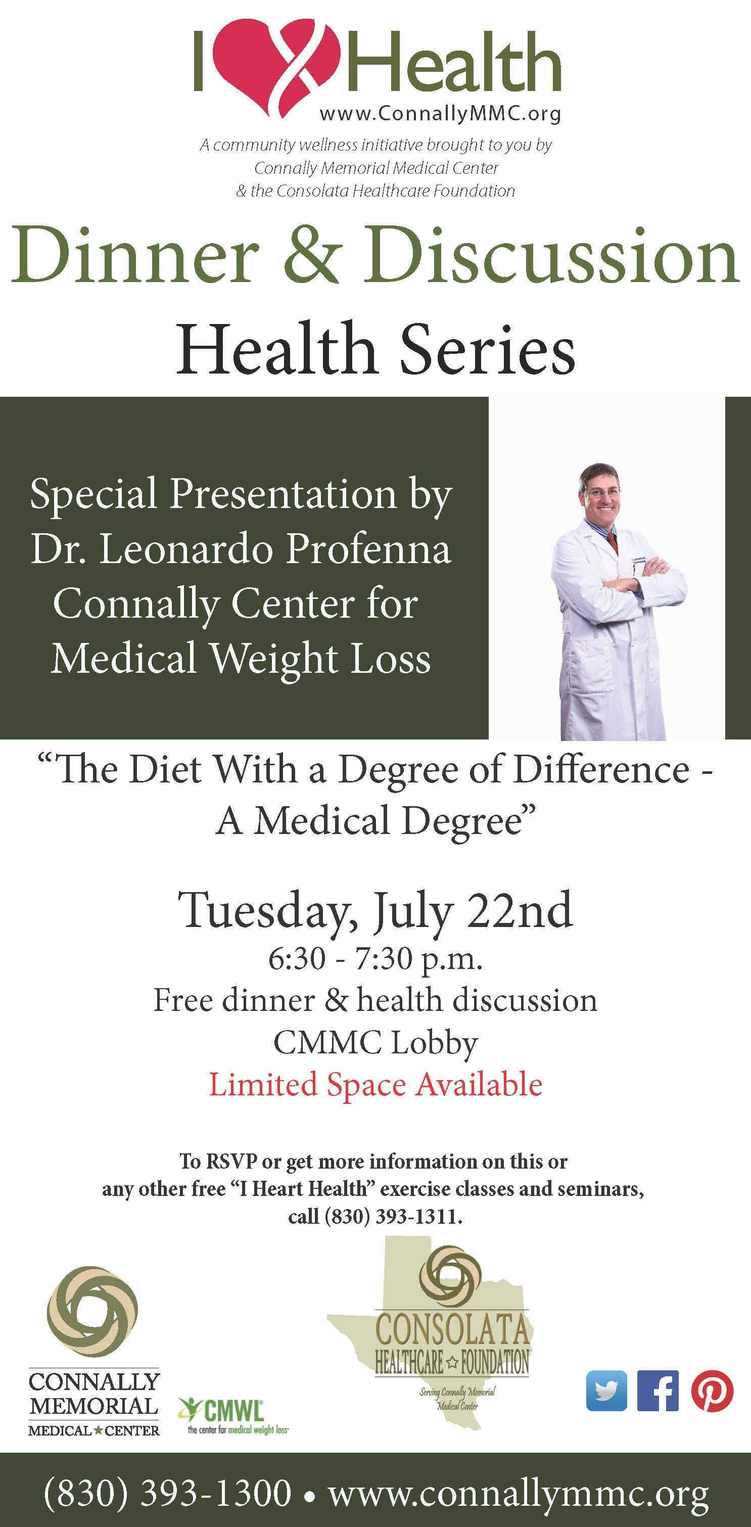 Free Dinner Discussion Tomorrow From 6 30 7 30 Pm With Dr