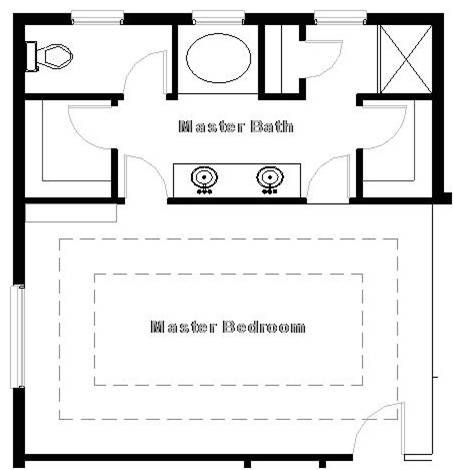 Master bedroom suite floor plan master suite what if for Double master suite floor plans