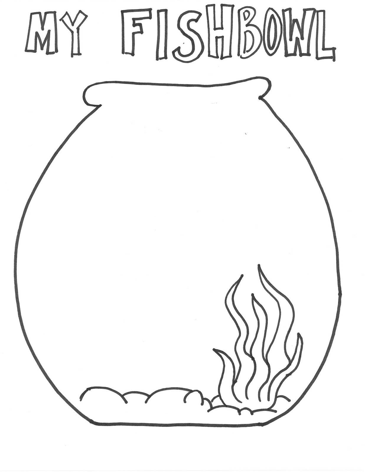 Fish Bowl Fish Coloring Page Fish Bowl Fish Activities