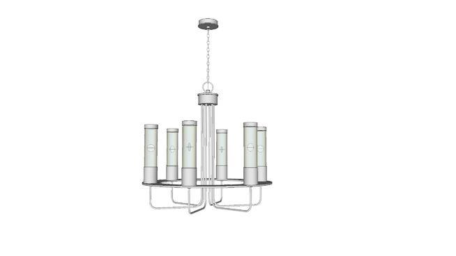 Modern Chrome Chandelier By Renaissance Lighting Fixture No Rl