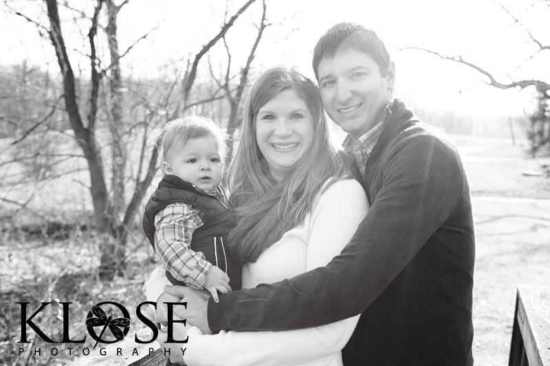 Lovely B&W family photo.